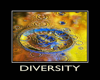 Mixed Media - Diversity Inspirational Motivational Poster Art by Christina Rollo