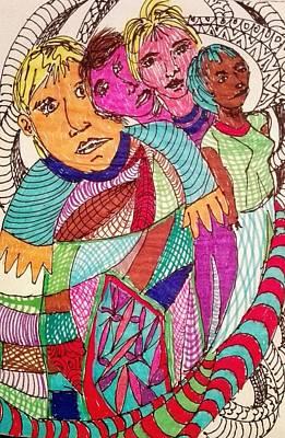 Painting - Diversity by Jesus Nicolas Castanon