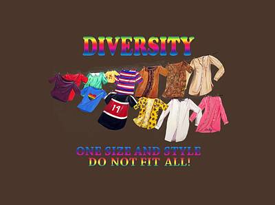 Painting - Diversity T-shirt by Dorothy Riley