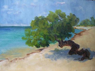 Aruba Painting - Divi Divi Tree by Sandy Ransom