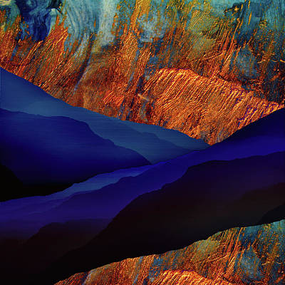 Abstract Landscape Digital Art - Divided by Katherine Smit