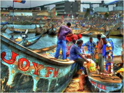 Photograph - Dividing The Catch by Wayne King