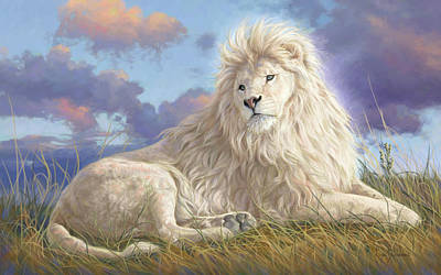 Lion Painting - Divine Beauty by Lucie Bilodeau
