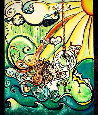 Divine Beloved Art Print by Shawna Namaste