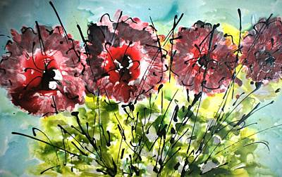 Animal Paintings David Stribbling - Divine Blooms-21147 by Baljit Chadha