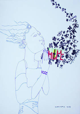 Painting - Divine Feelings - Hope by Gloria Ssali