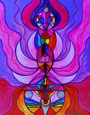 Awakening Wall Art - Painting - Divine Feminine Activation by Teal Eye Print Store