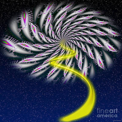 Divine Fireworks Art Print by Ganesh Barad
