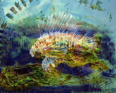 City Of Dubai Digital Art - 'divine Fish Number One' by Vincent Messelier