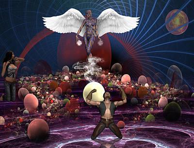 Intervention Mixed Media - Divine Intervention by Solomon Barroa