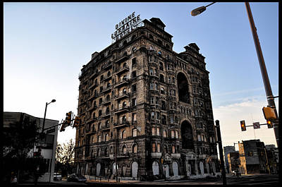 Abandoned Digital Art - Divine Lorraine Hotel by Bill Cannon