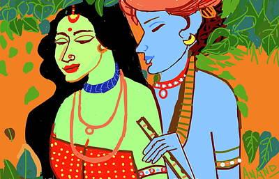 Digital Art - Divine Love by Anand Swaroop Manchiraju