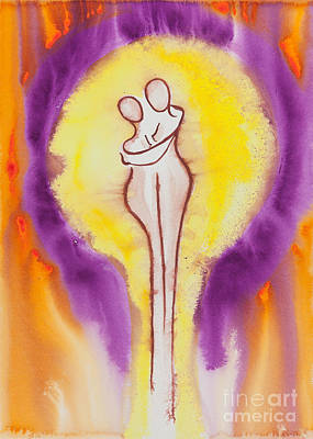 Lesbian Painting - Divine Love Series No. 2082 by Ilisa Millermoon