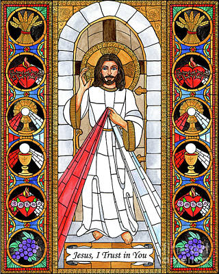 Painting - Divine Mercy by Brenda Nippert