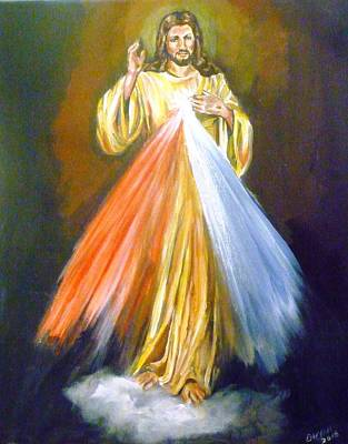 Painting - Divine Mercy by Bryan Bustard