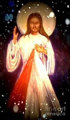 Devotional Painting - Divine Mercy by Patricia Ducher