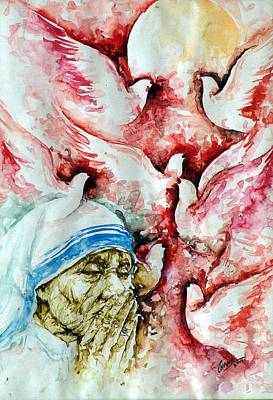 Divine Mother Teresa Art Print by Pc