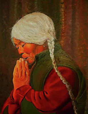 Painting - Divine Power Of Prayer by JoeRay Kelley