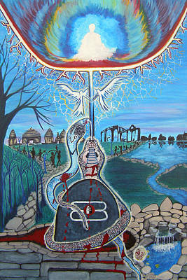 Destiny Painting - Divine Soul Mates by Rupali Sharma