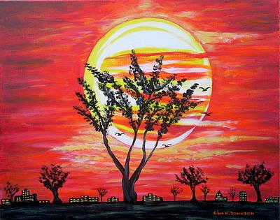 Painting - Divine Sunset by Gina Nicolae Johnson
