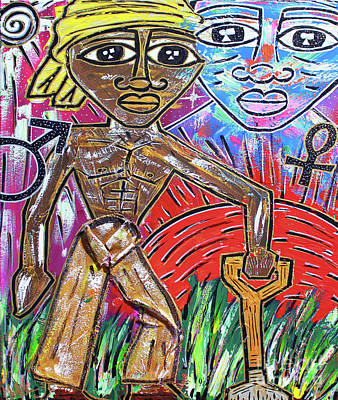Painting - Divine Unions by Odalo Wasikhongo