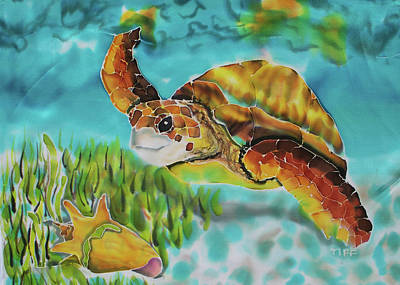 Painting - Diving Conch by Tiff
