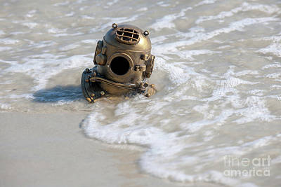 Photograph - Diving Helmet Washed Ashore by Dale Powell