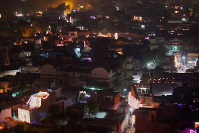 Diwali Photograph - Diwali At Night, Barsana by Jennifer Mazzucco