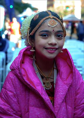 Diwali Photograph - Diwali Festival Nyc 2017 Young Fermale Dancer by Robert Ullmann