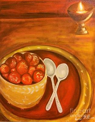 Painting - Diwali Sweets by Brindha Naveen