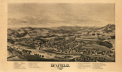 1878 Painting - Dixfield, Maine by Painter