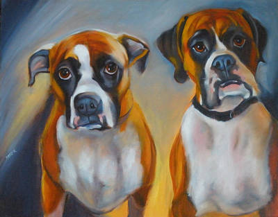 Painting - Dixie And Shadow by Kaytee Esser