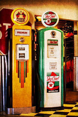 Photograph - Dixie And Sky Chief Gas Pumps by Bonnie Follett