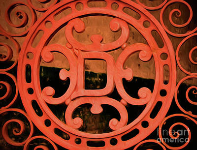 Photograph - Dixie Brewery Medallion - Cast Iron by Kathleen K Parker