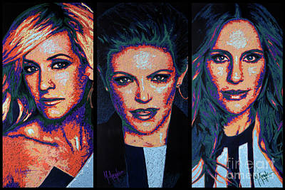 Dixie Chicks Print by Maria Arango
