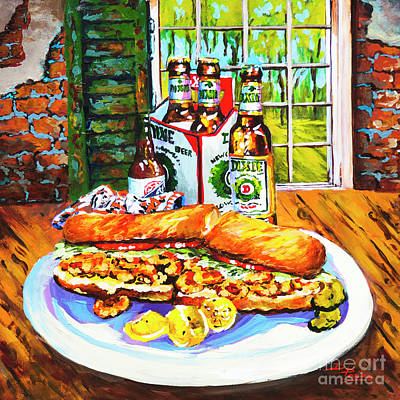 Painting - Dixie Po'boy by Dianne Parks