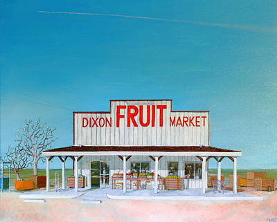 Wingsdomain Painting - Dixon Fruit Market 1992 by Wingsdomain Art and Photography