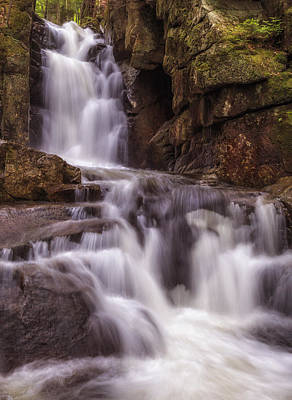 Photograph - Dixville Notch Falls-baby Flume by John Vose