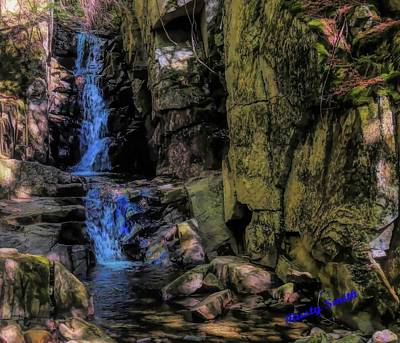 Digital Art - Dixville Notch Flume Brook by Rusty R Smith