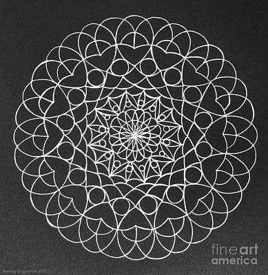 Kaleidoscope Drawing - Diy Pinwheel Painting  by Breena Briggeman