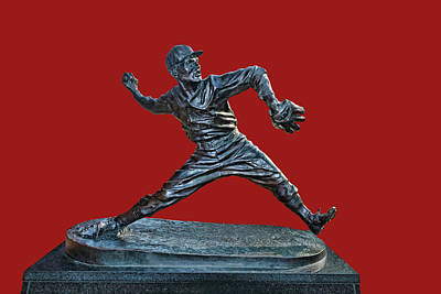 Photograph - Dizzy Dean Statue- Busch Stadium by Allen Beatty