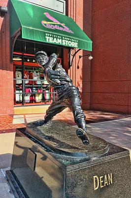 Photograph - Dizzy Dean Statue # 2- Busch Stadium by Allen Beatty