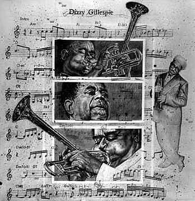 Painting - Dizzy Gillespie Bebop by Buena Johnson