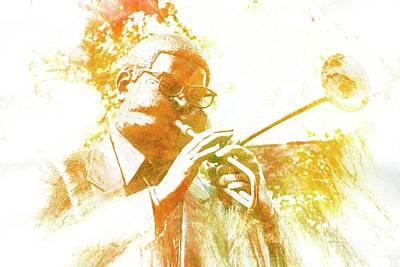 Mixed Media - Dizzy Gillespie Cheraw South Carolina 2 by Bob Pardue