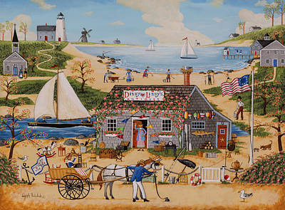 Painting - Dizzy Lizzy's Antiques by Joseph Holodook
