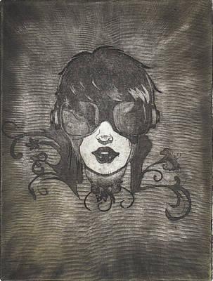 Drawing - Dj Ev by Erik Paul