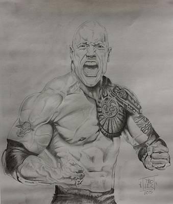 Dj The Rock Art Print