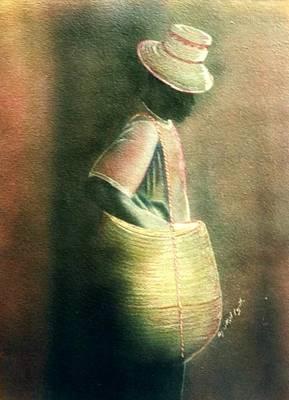 Haitian Drawing - Djakout by Neg Ayiti