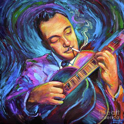 Painting - Django Reinhardt  by Robert Phelps