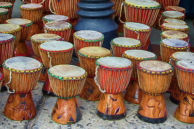 Photograph - Djembe Drums by John Haldane
